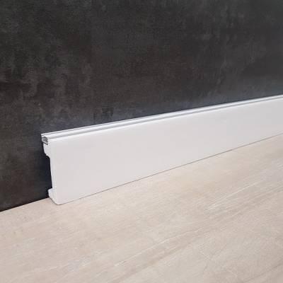 Schöne Licht Sockelleiste/ Zierleiste Polystyrol unbeschichtet weiß (15 x 60 mm)