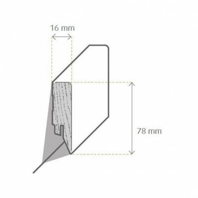 Zeichnung Sockelleiste / Fußleiste / Bodenleiste Mortara-3 (72297)