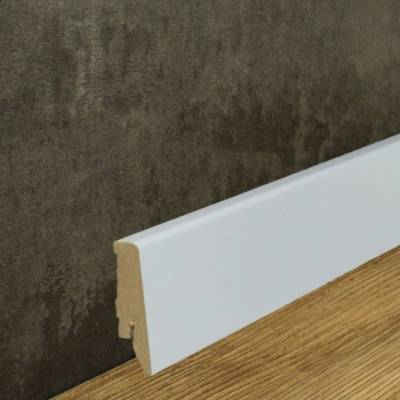 Klassische Sockelleiste MDF foliert weiß (18 x 58 mm) 718.5831