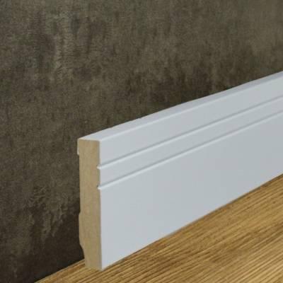 Sockelleiste MDF-Kern foliert weiß (16 x 80 mm) 721.1580