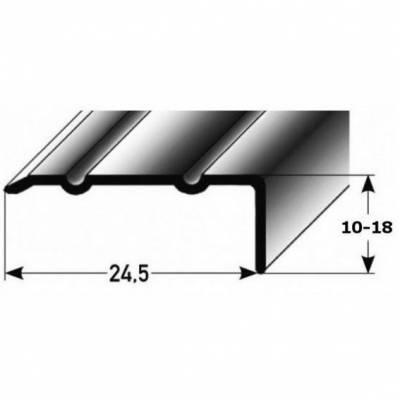 """Winkelprofil """"Salerno"""" / Winkelprofil 24,5 mm Typ: 88/89 Aluminium eloxiert, gebohrt"""