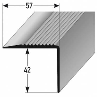 """PVC-Treppenkante """"Veiros"""" PVC-Winkel, 57 mm Breite, 42 mm Höhe aus weichem PVC, Typ 366"""