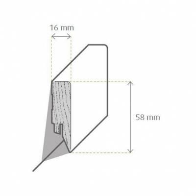 Zeichnung Sockelleiste / Fußleiste / Bodenleiste Mortara-2 (72235)