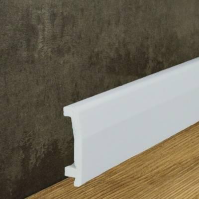 Moderne Wasserdichte Sockelleiste Kunststoff Stoßfest (17 x 70 mm)