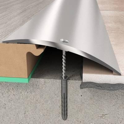 Übergangsprofil 70 x 6,55 mm | Aluminiumprofil Silber gebohrt
