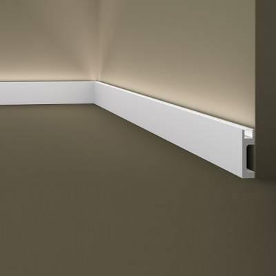 Außenwinkel | Sockelleiste / Lichtleiste | Wallstyl IL10 NMC | 80 x 23 | indirekte Beleuchtung