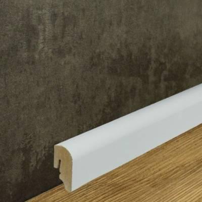 MDF Sockelleiste weiß lackiert (20 x40 mm) abgerundete Fußleiste