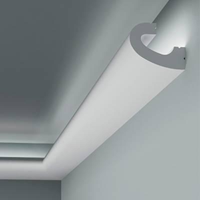 Licht - Stuckleiste 6.50.708 Lines | hochfestes, wasserfestes Polystyrol incl. Reflektionsklebeband