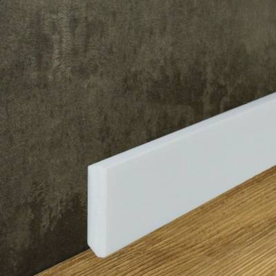 Fußleiste 13 x 58 mm weiß (NMC WALLSTYL® - FT2) aus Kunststoff