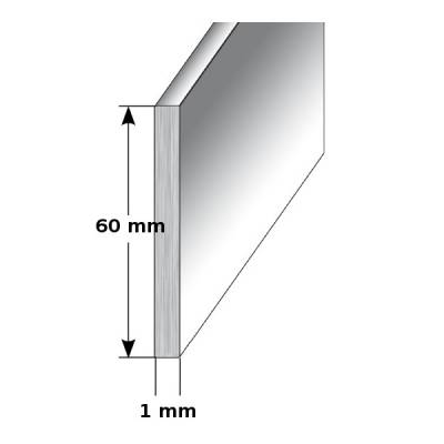 "Aluminium - Sockelleiste / Fußleiste ""TYP i 60"", Höhe: 60 mm, in verschiedenen Varianten"