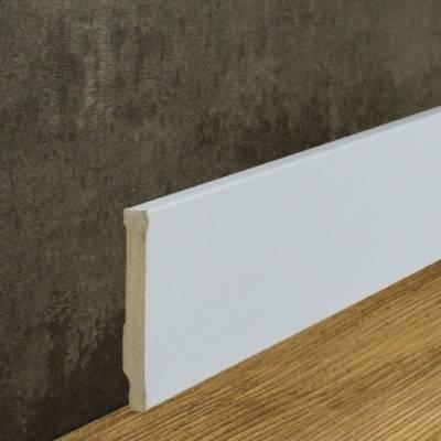 Sockelleiste MDF-Kern foliert weiß (10 x 80 mm) 721.108