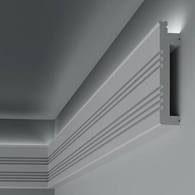 Lichtleiste / Stuckleiste 6.53.705 Lines | aus hochfestem und wasserfestem Polystyrol