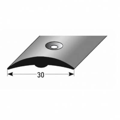 "PVC-Übergangsprofil ""Alvega"" Übergangsleiste, 30 mm Breite, aus hartem PVC, Typ 358, gelocht"