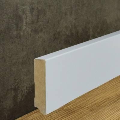 Klassische Eckige Sockelleiste MDF foliert weiß (19 x 80 mm) 721.198