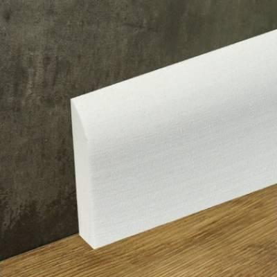 Sockelleisten Weiß Kunststoff 69 x 10 x 2400 mm | Weichsockelleiste