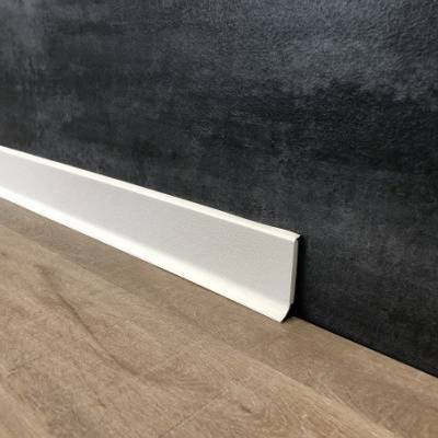 Fußleiste   PVC   Sockelleiste   Rimini   60 x 12.8 mm   durchgefärbte Weichlippe   weiß