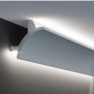 Stuckleiste | Deckenleiste | 90 mm x 90 mm | Polyurethan | KF703 | Lichtleiste