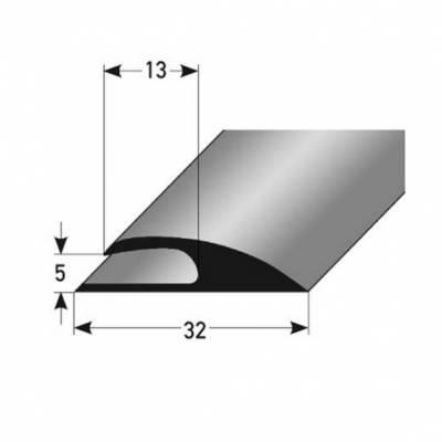 """PVC-Einfassleiste """"Sardoal"""" Einfassleiste, 5 mm Einfasshöhe, weichem PVC, Typ 356"""