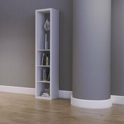 Sockelleisten Weiß Kunststoff 44 x 10 x 2400 mm   Weichsockelleiste