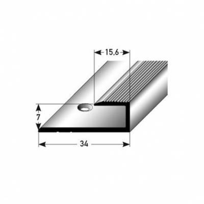 """Einfassprofil """"Waterford"""" für Laminat, 7 mm Einfasshöhe, Aluminium eloxiert, gebohrt"""