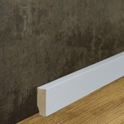 Klassische Eckige Sockelleiste MDF foliert weiß (16 x 40 mm) 721.164