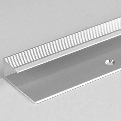 """Einfassprofil """"Cobourg"""" für Laminat / Parkett, 10,3 mm Einfasshöhe, Aluminium eloxiert, gebohrt"""