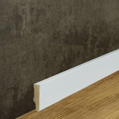 Klassische Sockelleiste MDF foliert weiß (10 x 40 mm) 721.1040