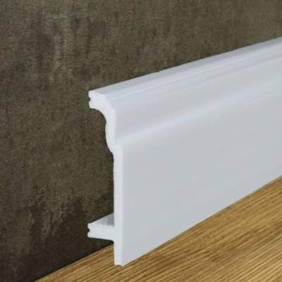 Wasserfeste Sockelleiste weiß (24,5 x 108 mm) aus Kunststoff