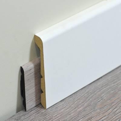 Renovierungsleiste | Abdeckleiste 92 x 24 mm | weiß foliert | kürzbar auf 3 verschiedene Höhen
