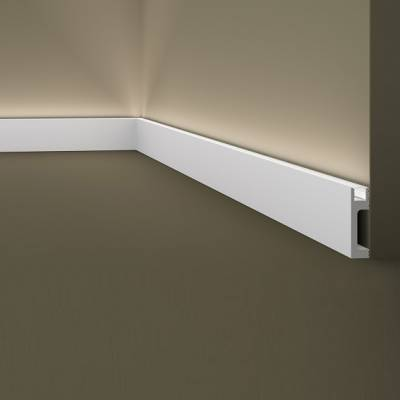 Sockelleiste / Lichtleiste | Wallstyl IL10 NMC | 80 x 23 | indirekte Beleuchtung