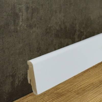 Runde Sockelleiste Folienummantelt weiß (19 x 58 mm)