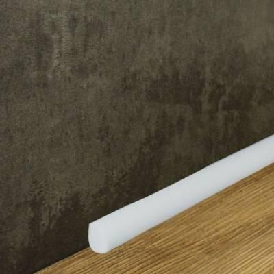 Fußleiste (NMC FLOORSTYL® - FL6) aus schlagfestem, wasserbeständigem Kunststoff weiß (12 x 19 mm)