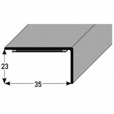 "PVC-Winkel für Stufenmatten ""Ortiga"" PVC-Winkel, 35 mm Breite, 23 mm Höhe PVC, Typ 246"