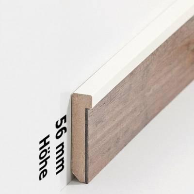 """Design-Fußleiste für Vinylboden """"Frankfurt"""" - cremefarben - 56 mm Höhe (MDF foliert - 726.5127) (Default) 2"""