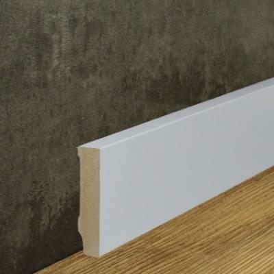 Klassische Sockelleiste MDF-Kern foliert weiß (16 x 70 mm) 721.167