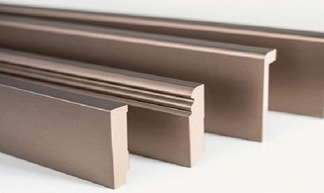 Metall Sockelleiste Fußleiste Metallic